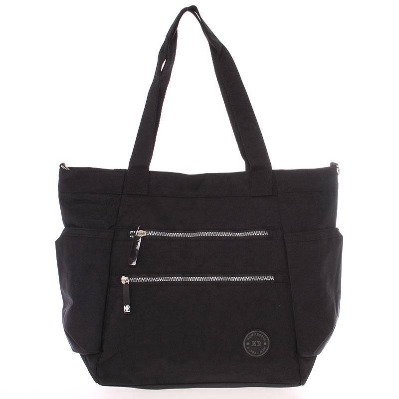 Moderná látková športová čierna taška - New Rebels Brielle