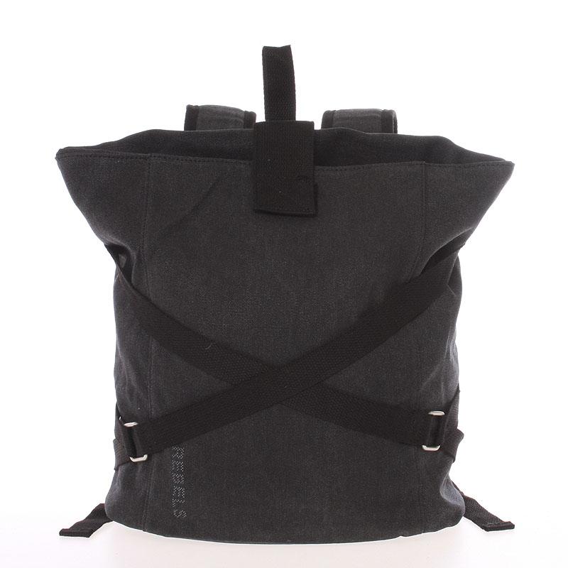 Unisex moderný látkový čierny batoh - New Rebels Kinley