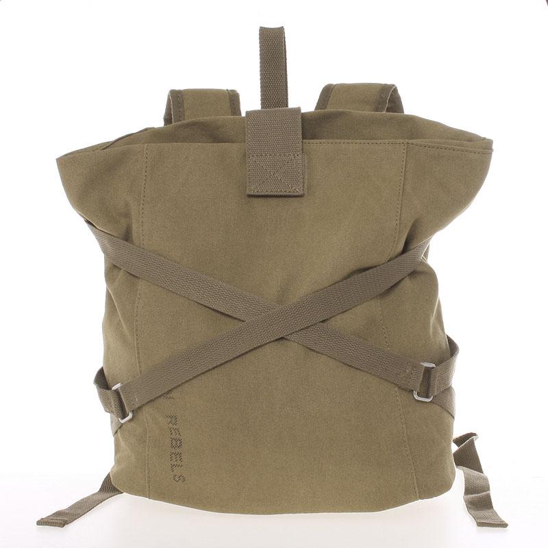 Unisex moderný látkový hnedý batoh - New Rebels Kinley