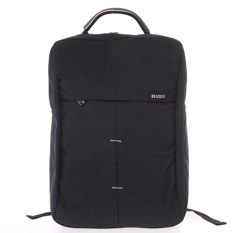 Jedinečný moderný čierny batoh - Enrico Benetti Achelous