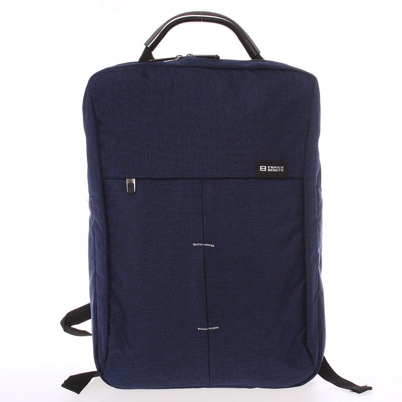Jedinečný moderný modrý ruksak - Enrico Benetti Achelous