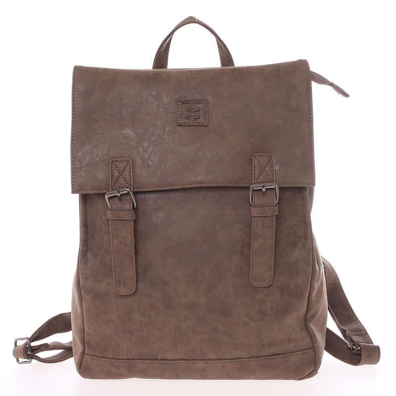 Módny štýlový batoh hnedý - Enrico Benetti Travers