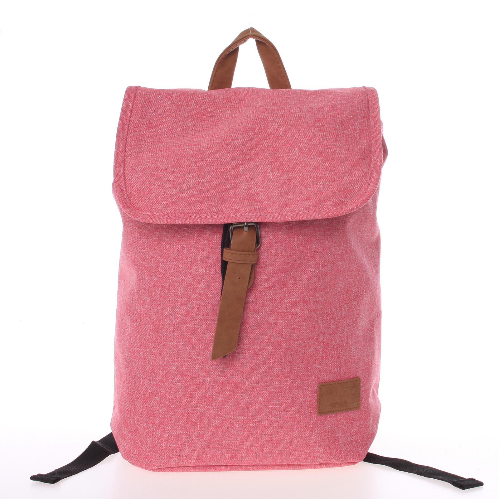 Elegantný látkový ružový batoh - New Rebels Morpheus