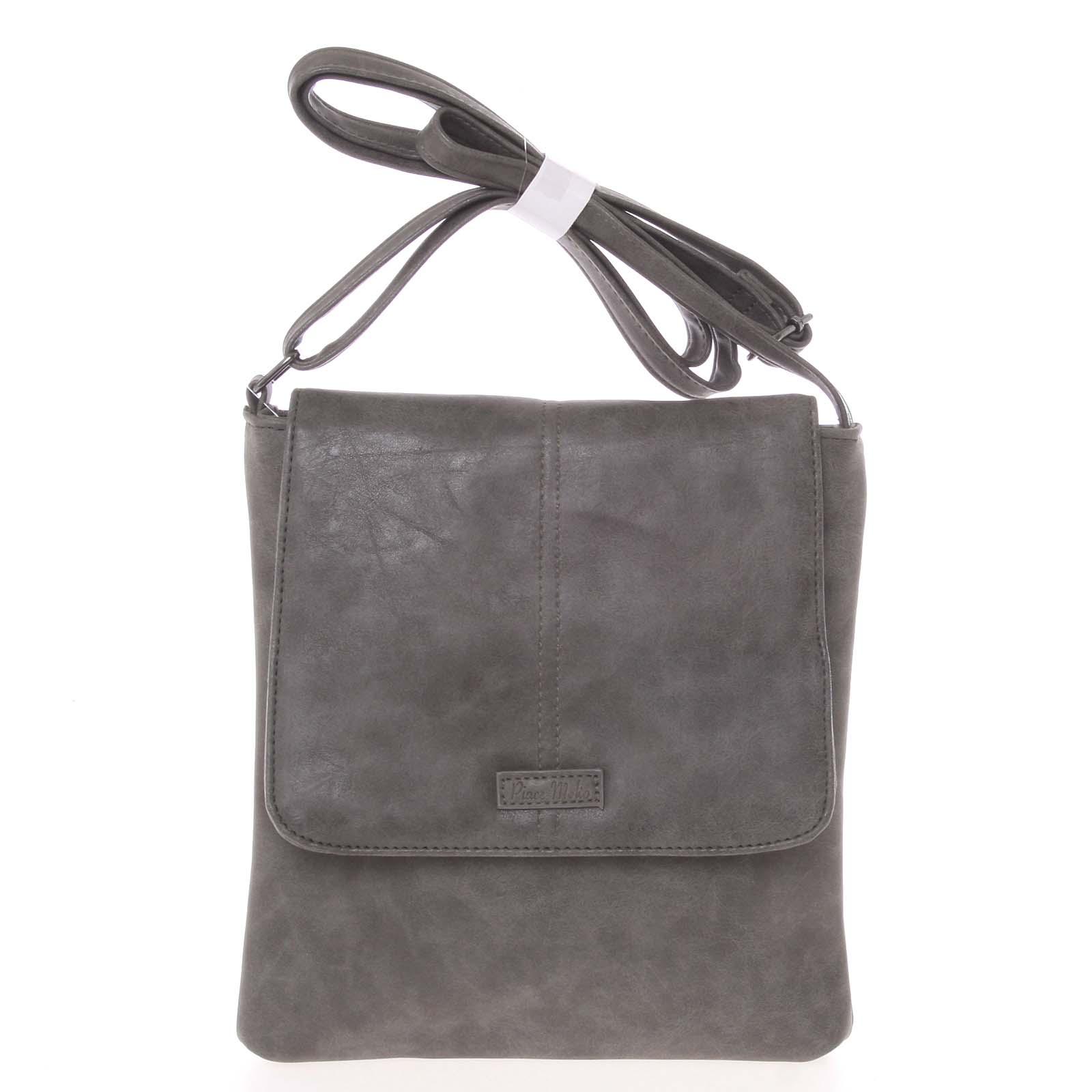 Elegantná dámska crossbody kabelka sivá - Piace Molto Narcissa
