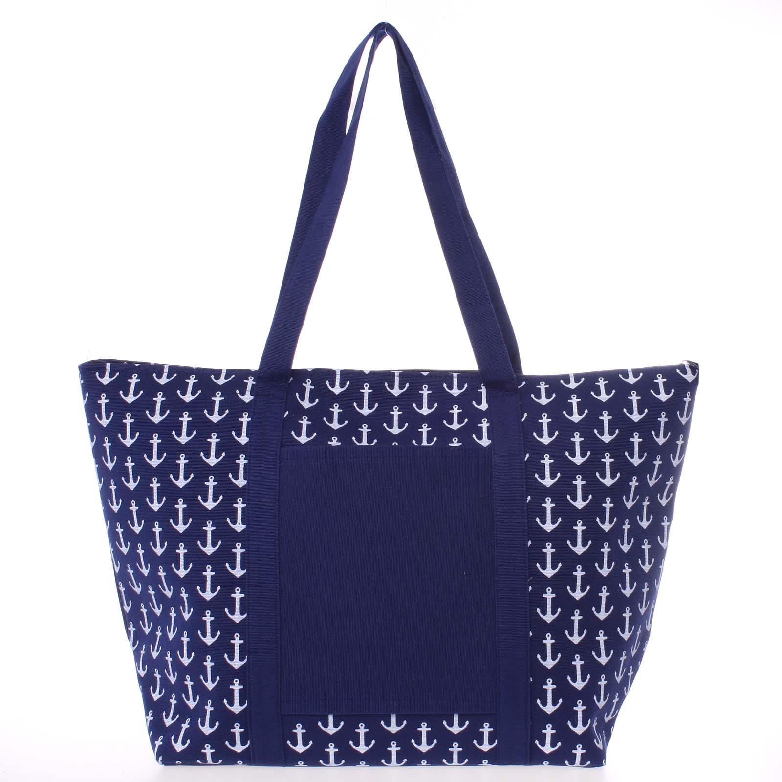 Luxusná modrá plážová taška - Delami Spirance
