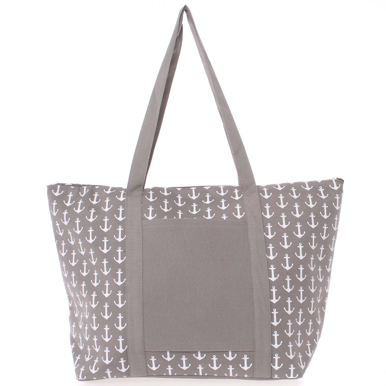 Luxusná sivá plážová taška - Delami Spirance