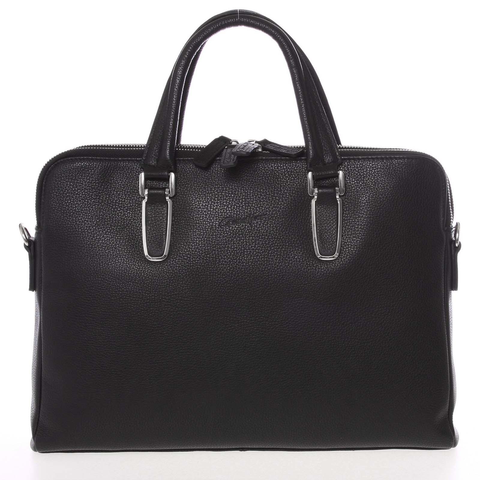 Luxusná kožená taška čierna - Gerard HENON Edmond