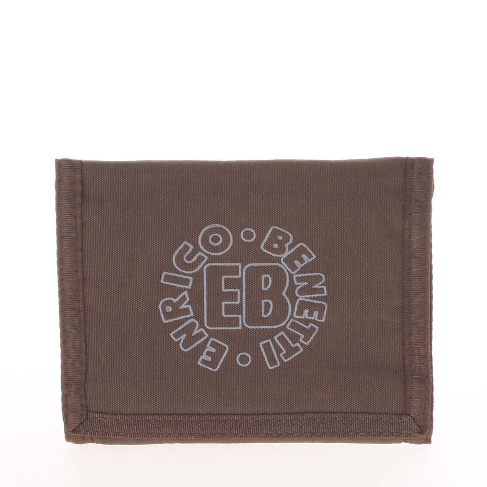 Hnedá látková peňaženka Enrico Benetti 54044