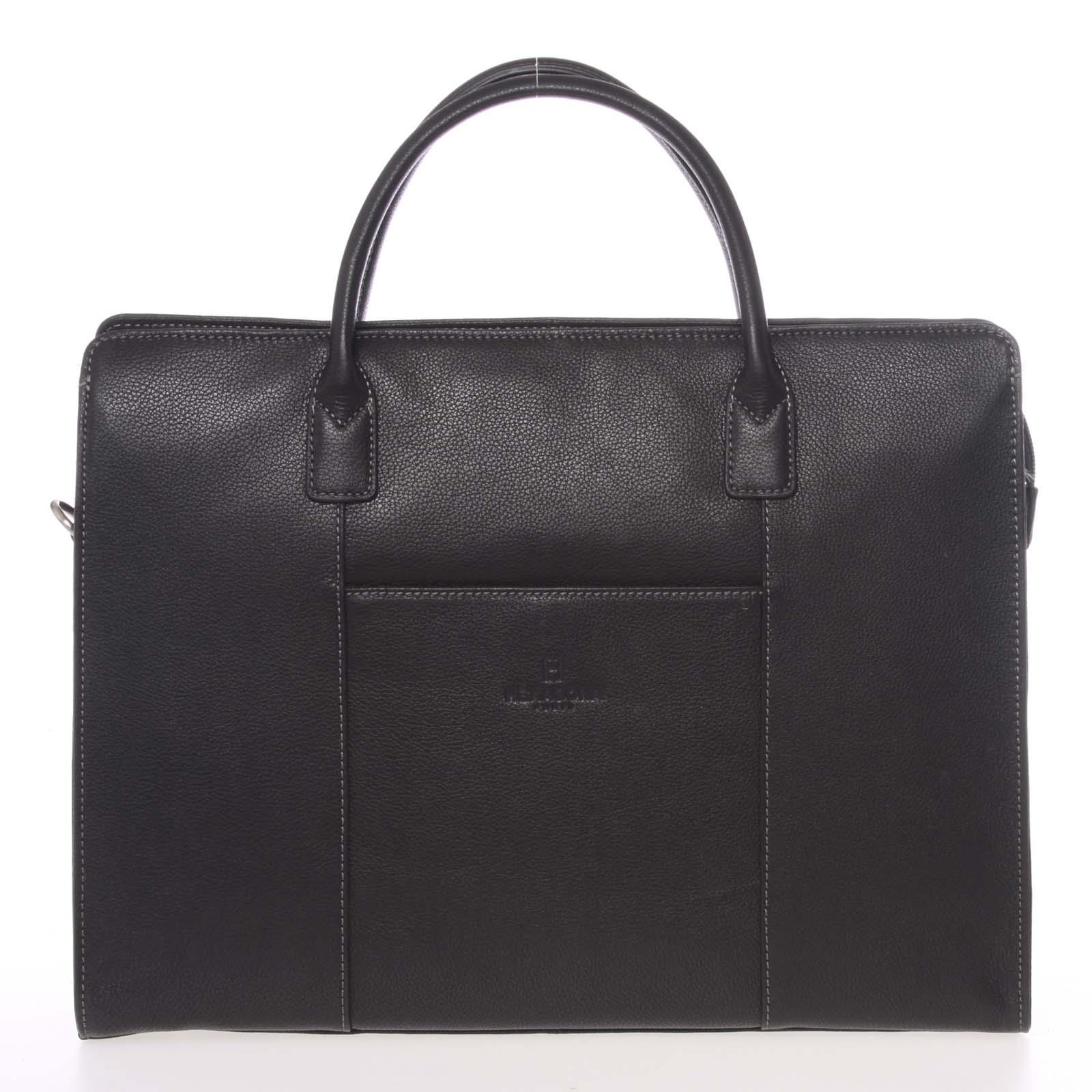 Dámska kabelka čierna kožená - Hexagona 462698