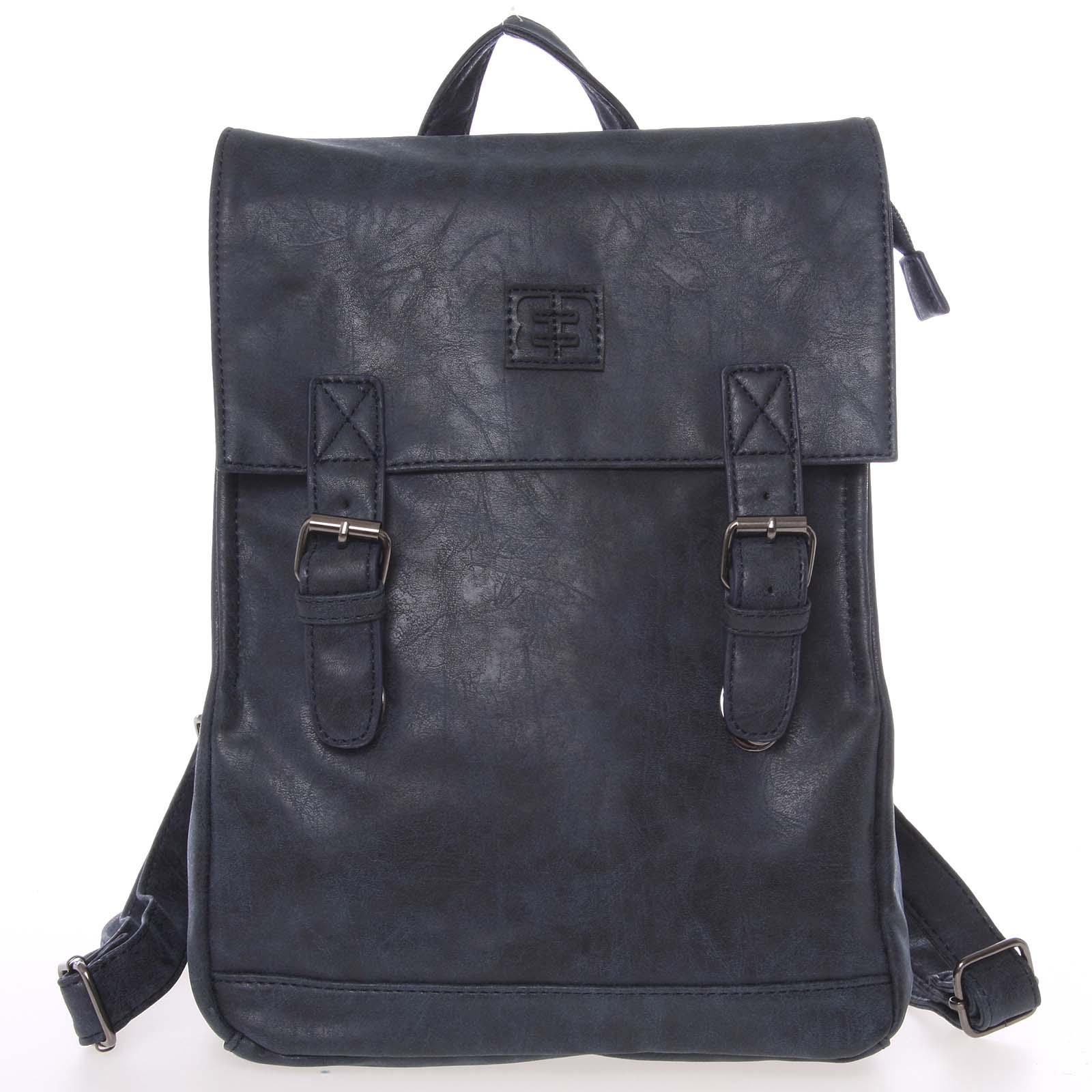 Módny štýlový batoh tmavomodrý - Enrico Benetti Travers