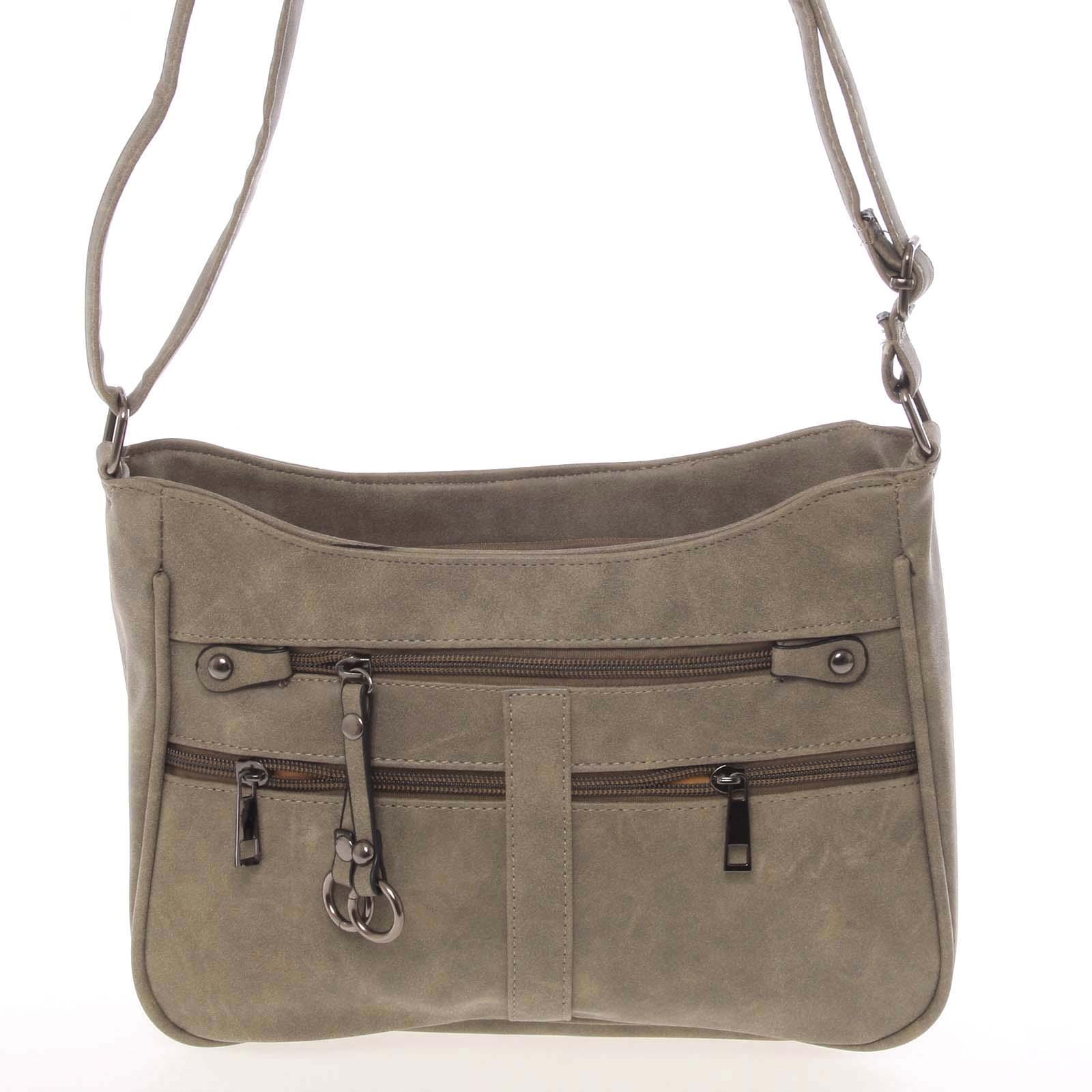 Dámska menšia crossbody olivová kabelka - Piace Molto Umbra