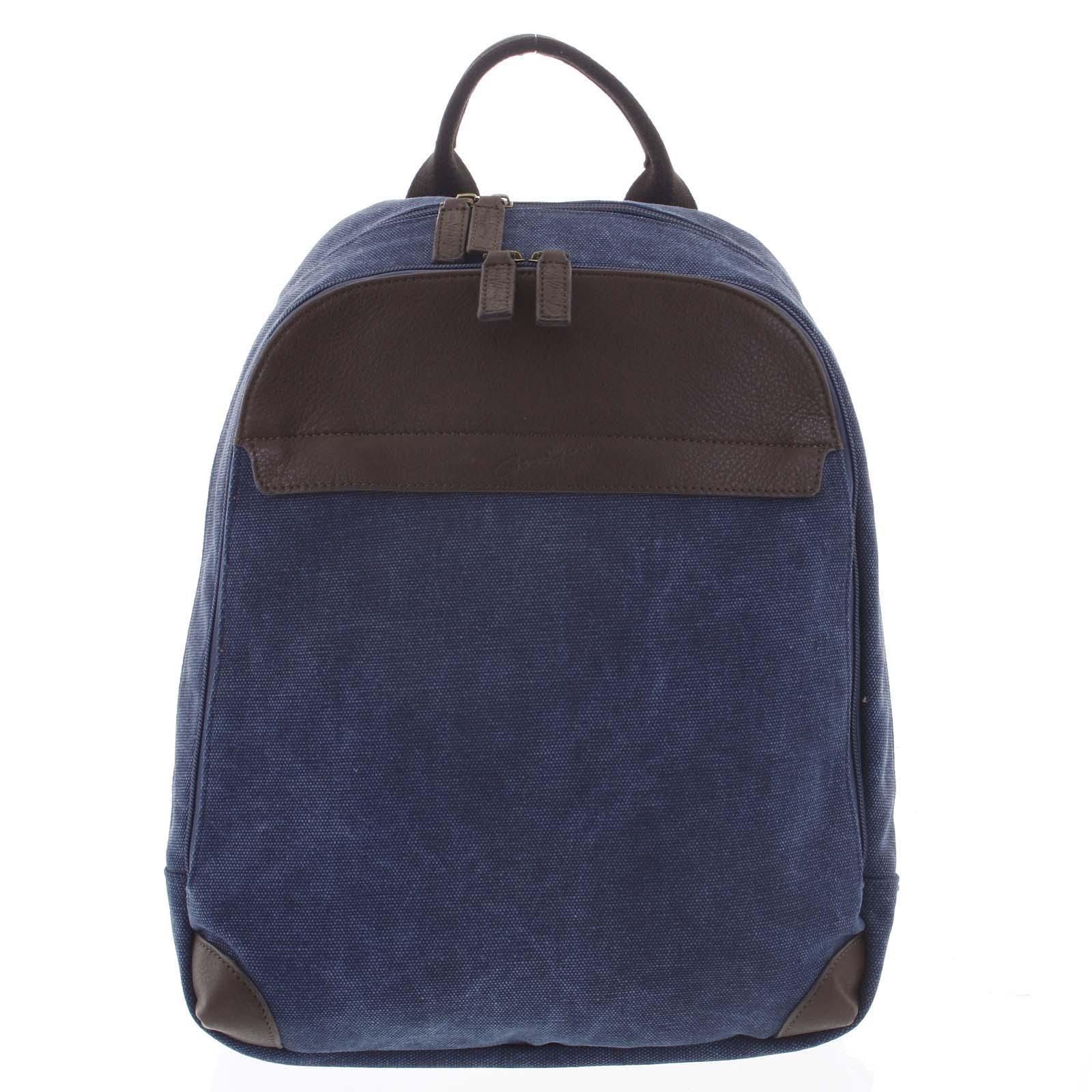 Štýlový pánsky batoh modrý - Gerard Henon Roch