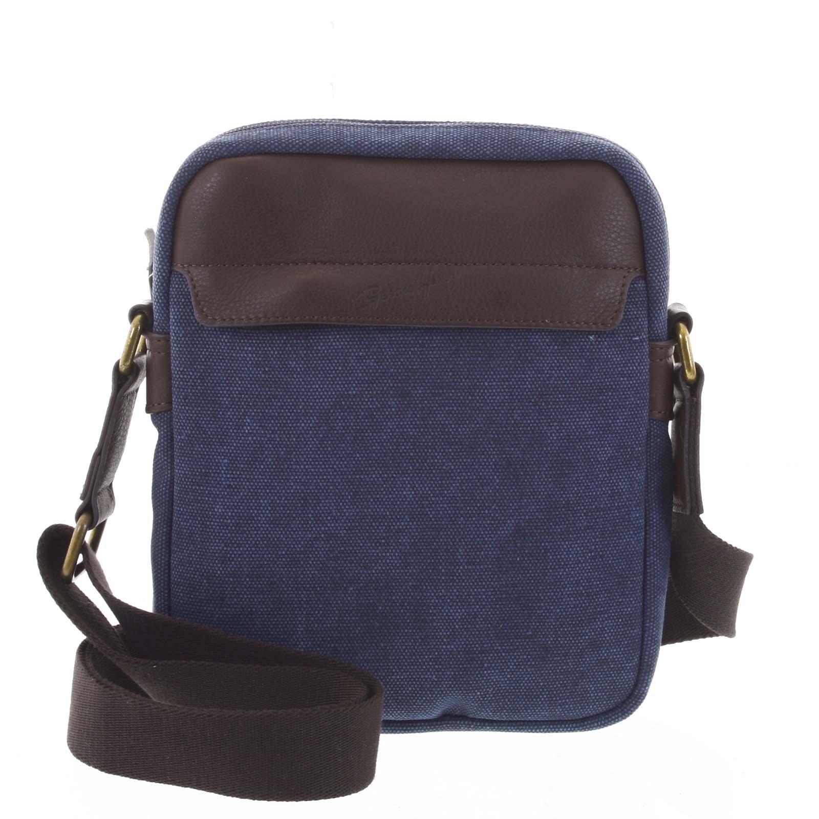 Štýlová pánska taška na doklady modrá - Gerard Henon Vidal
