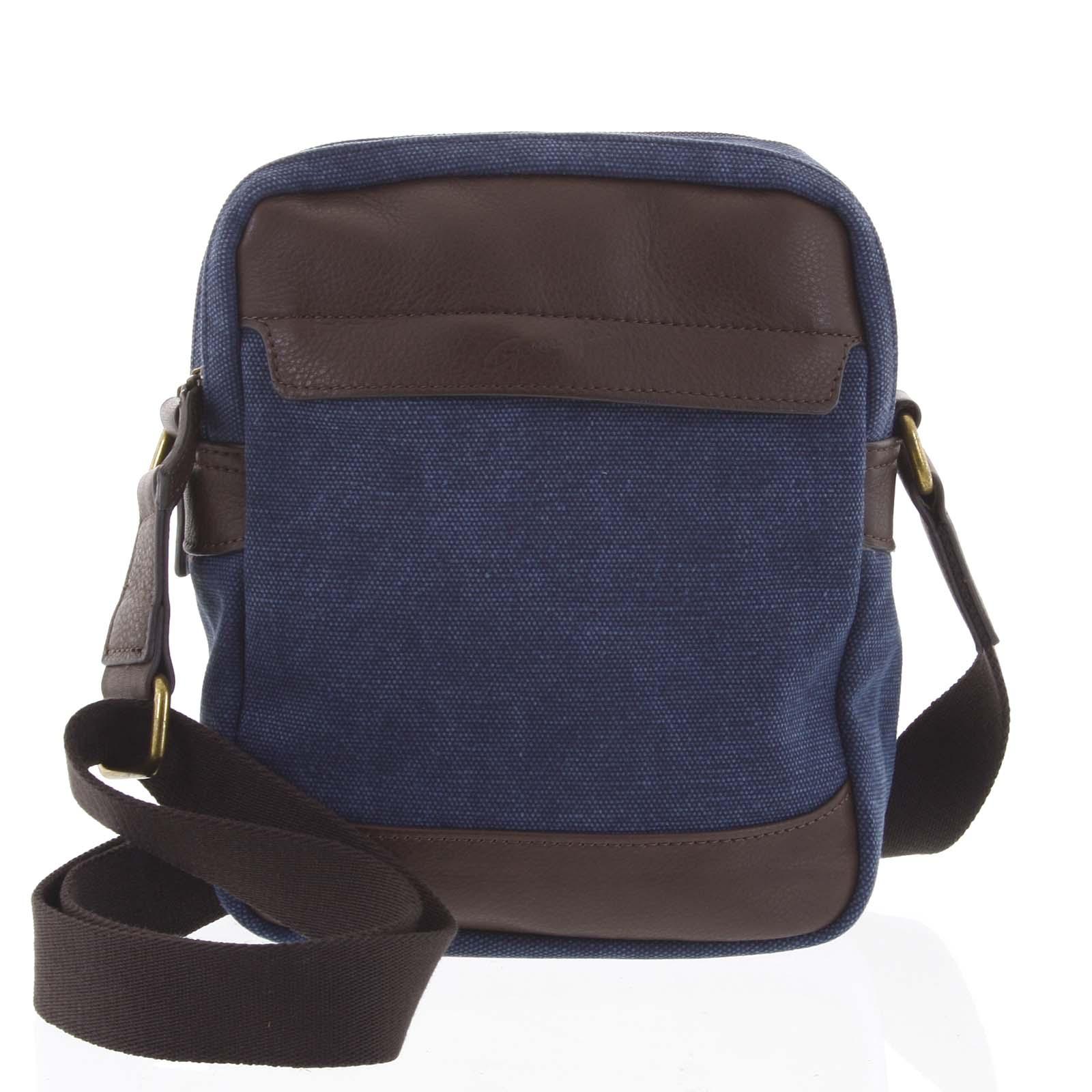 Štýlová dvojkomorová pánska taška na doklady modrá - Gerard Henon Percy