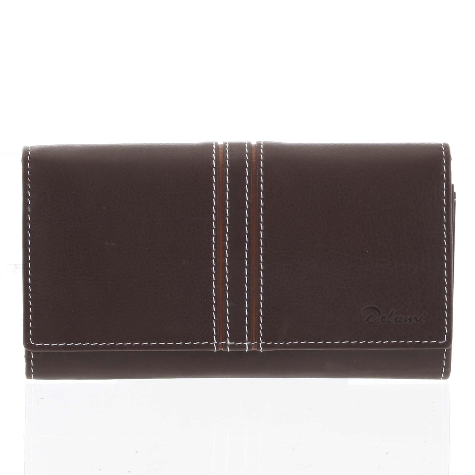 Dámska kožená peňaženka hnedá - Delami Lestiel