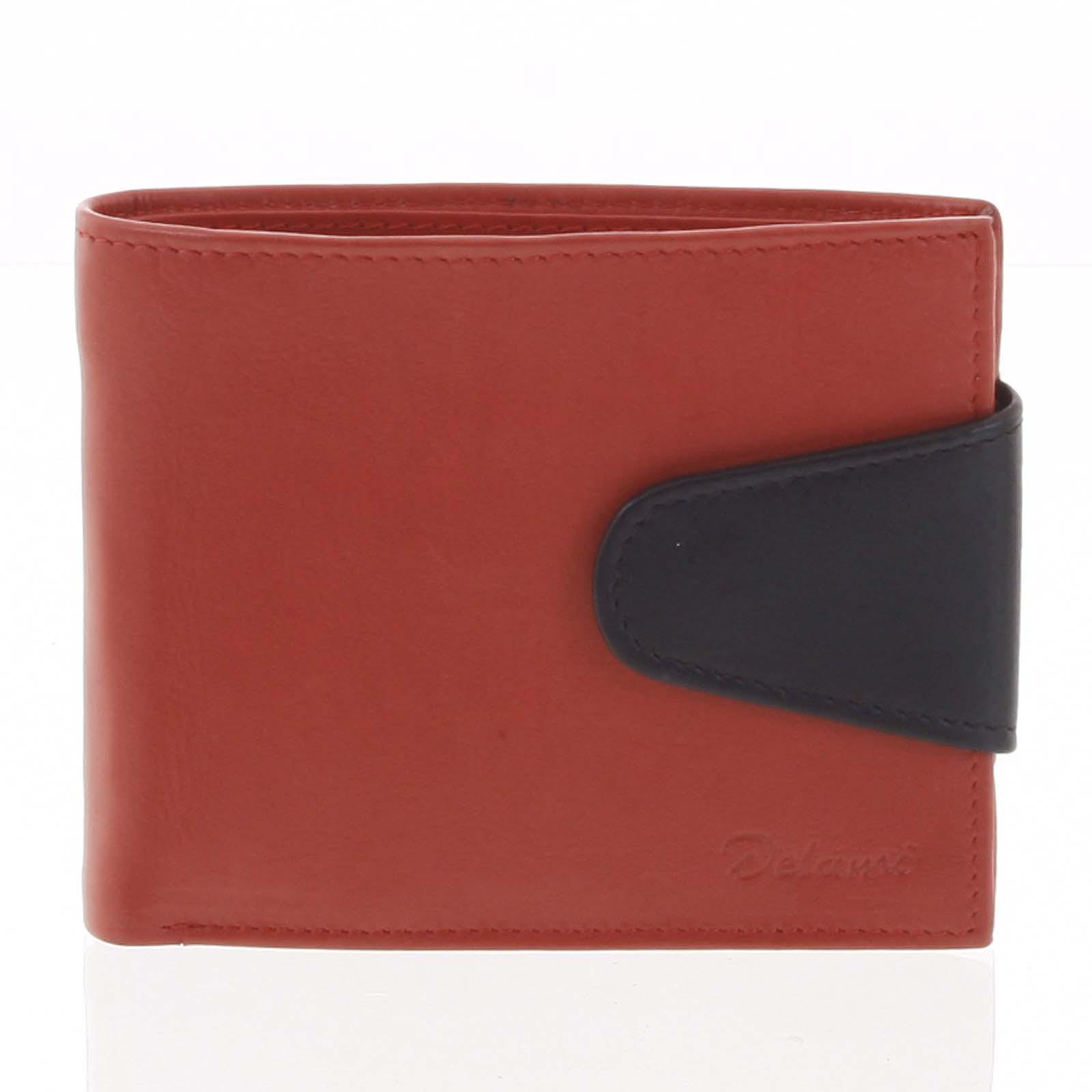 Pánska kožená peňaženka červená - Delami 11816