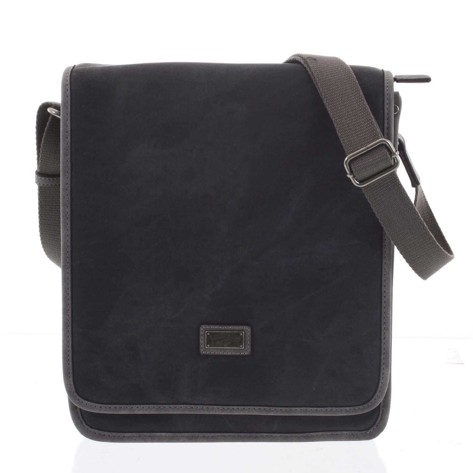 Čierna moderná pánska taška cez plece - Lee Cooper Adrastos