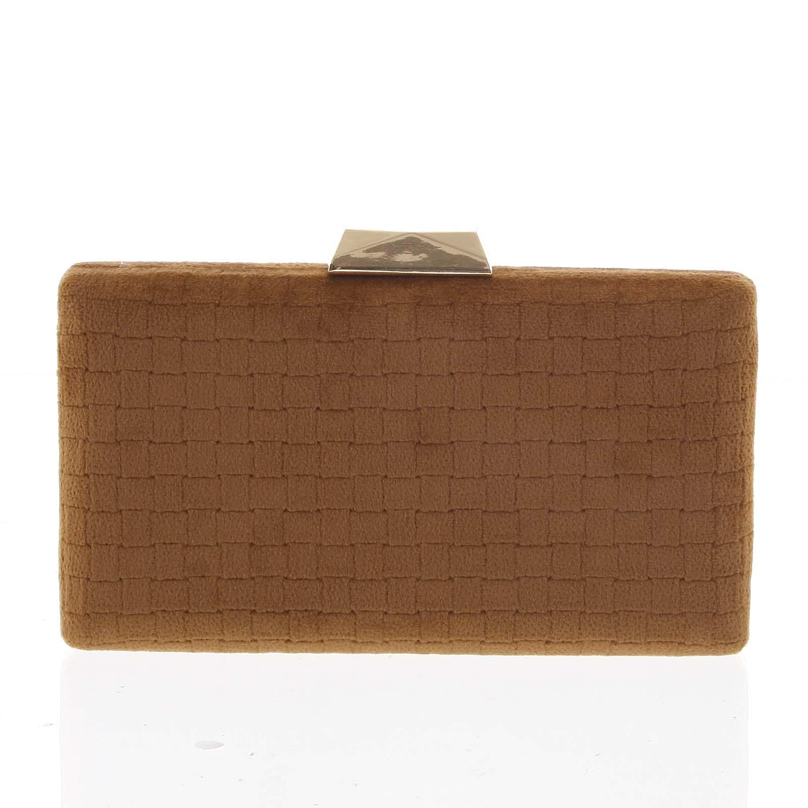 Luxusná semišová originálna hnedá listová kabelka - Delami ZL093