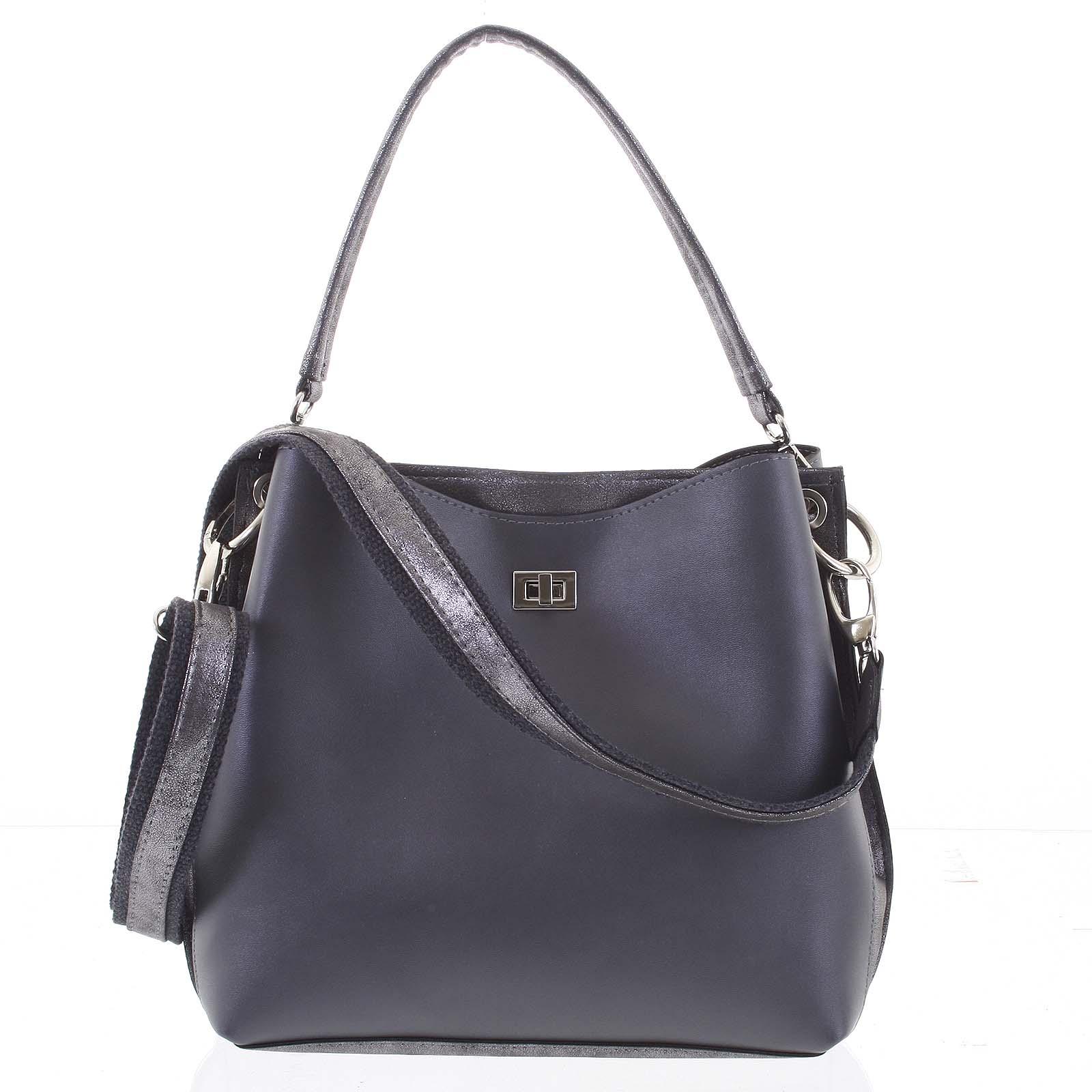 Moderná dámska kabelka sivá - Delami Trecia