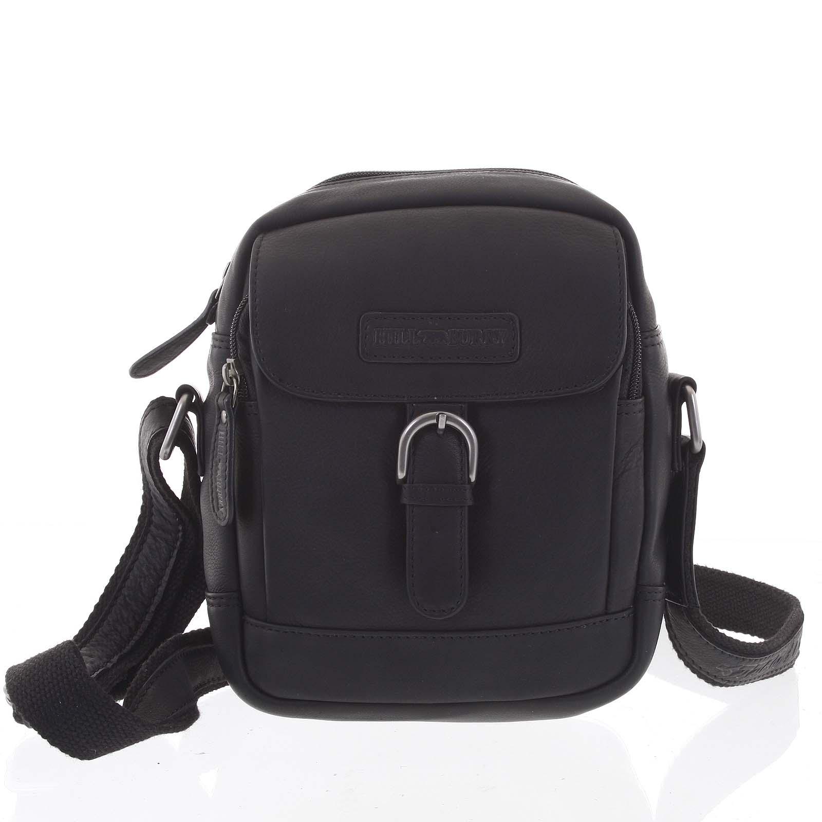 Luxusná kožená taška čierna - Hill Burry Lorst