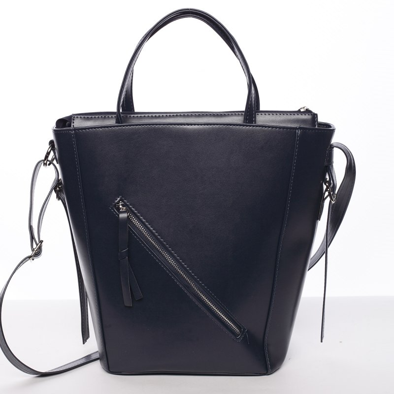 Moderná dámska kabelka do ruky tmavomodrá - Delami Maryam