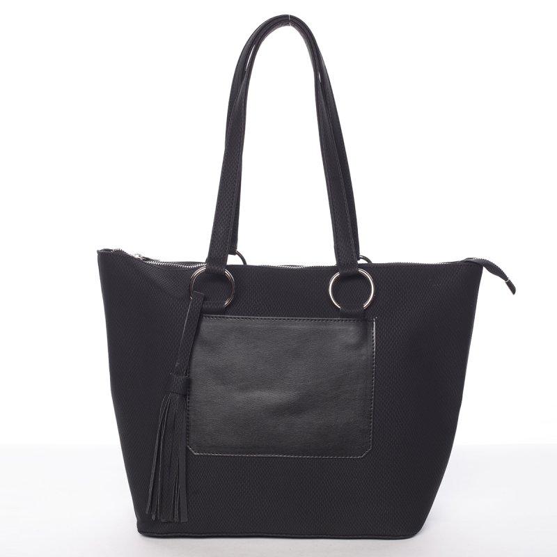 Originálna vzorovaná kabelka čierna - Delami Sawyer