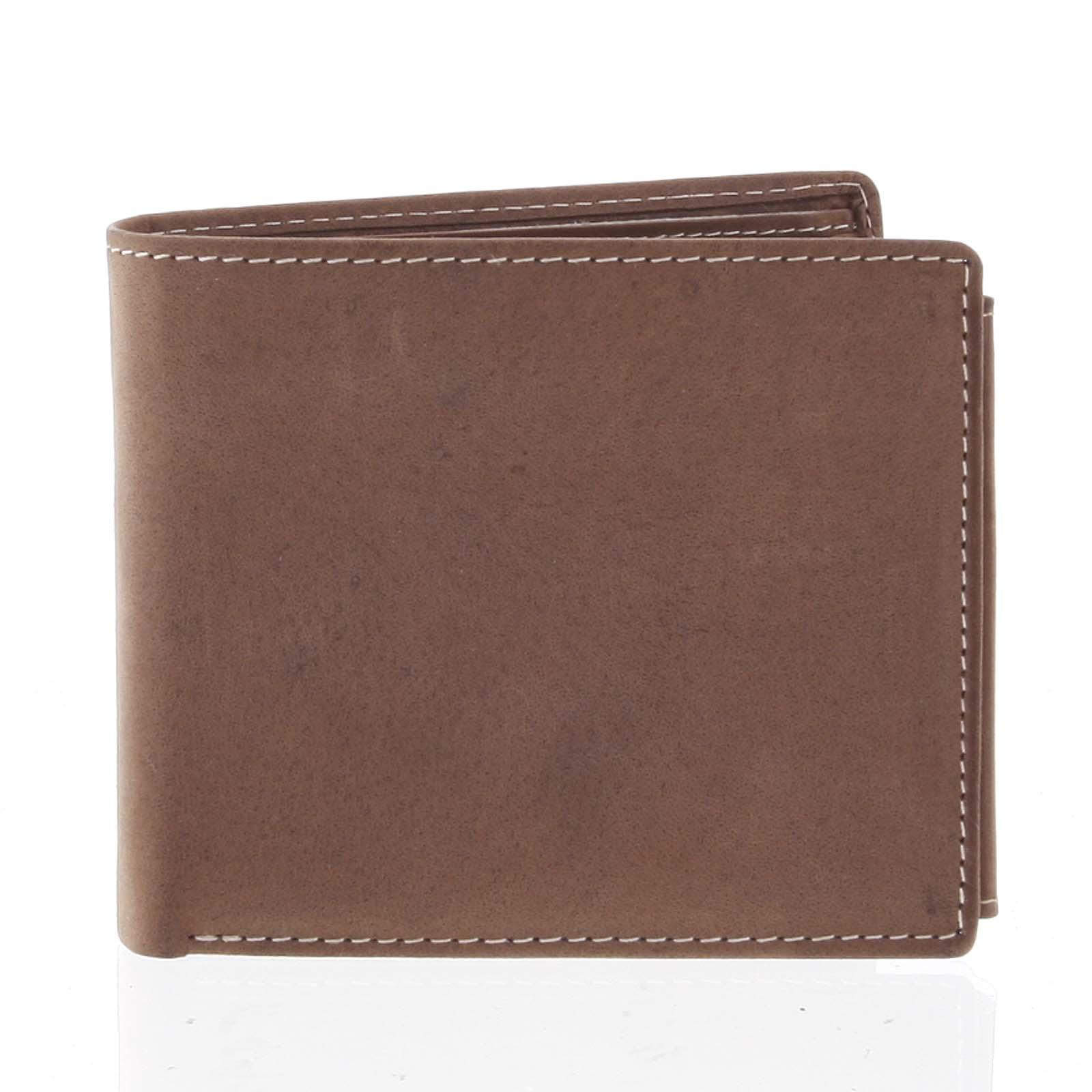 Priestorná pánska kožená hnedá peňaženka - Tomas Vilaj