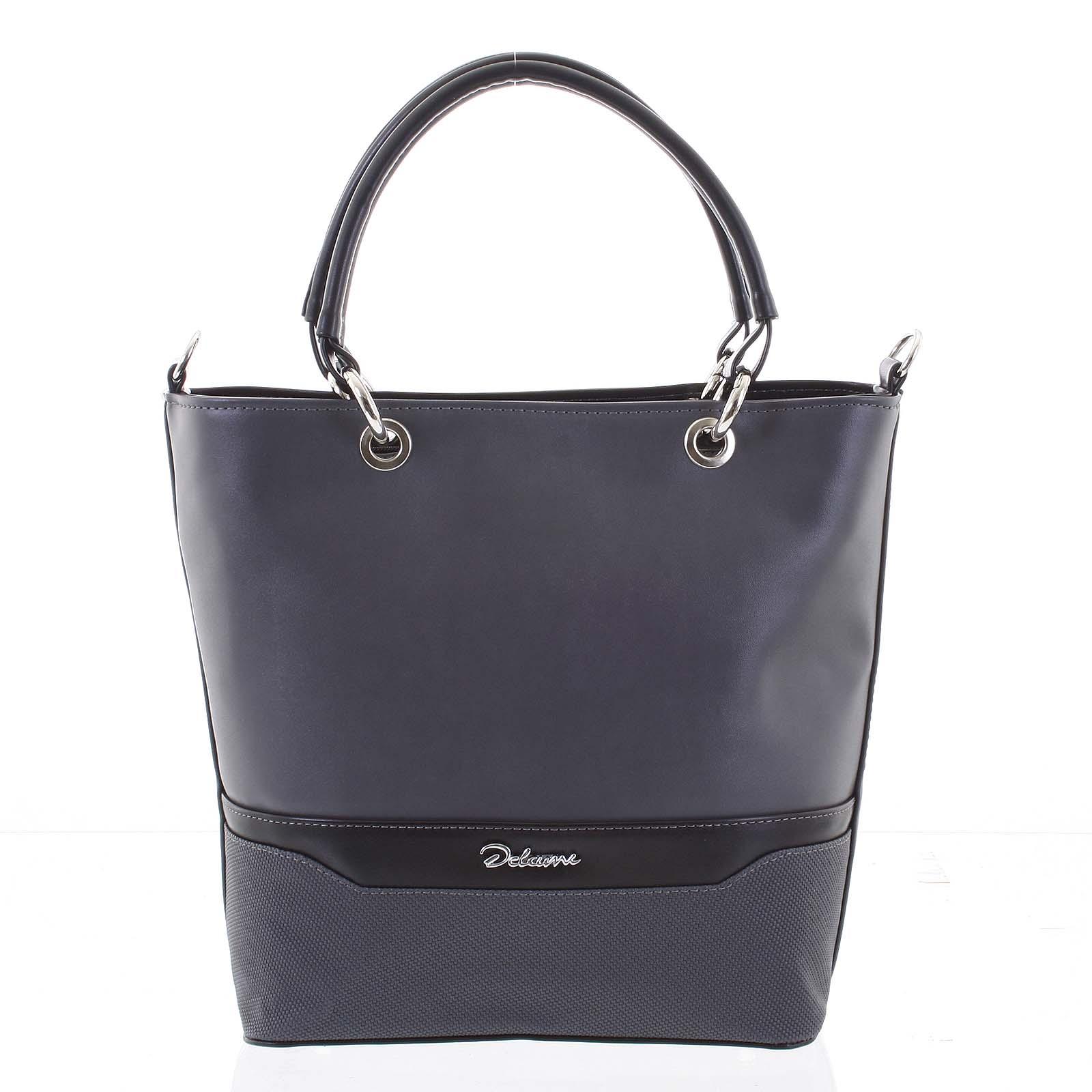 Jedinečná dámska kabelka sivá - Delami Leanna