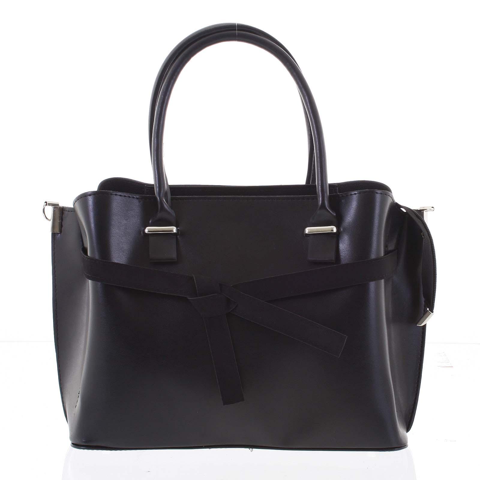 Trendy dámska kabelka do ruky čierna - Delami Giovanna