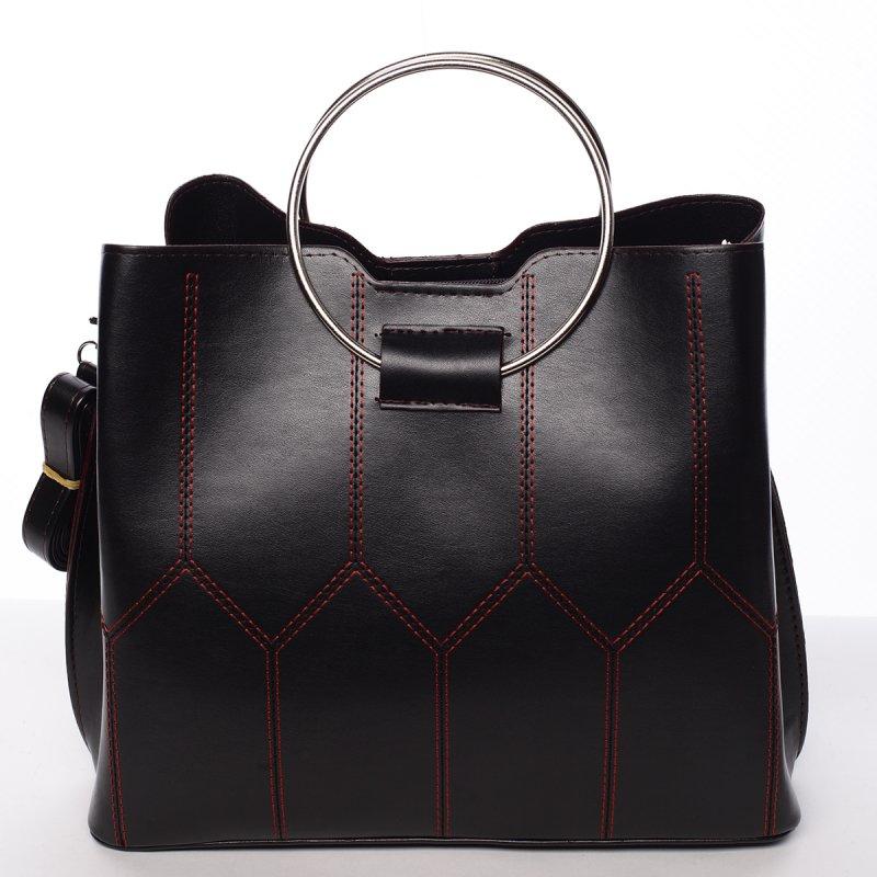Luxusná dámska kabelka čierno červená - Delami Gracelynn