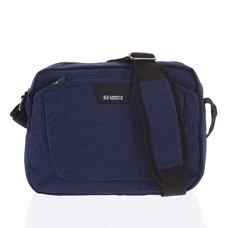 Modrá crossbody taška na doklady - Enrico Benetti Accalia