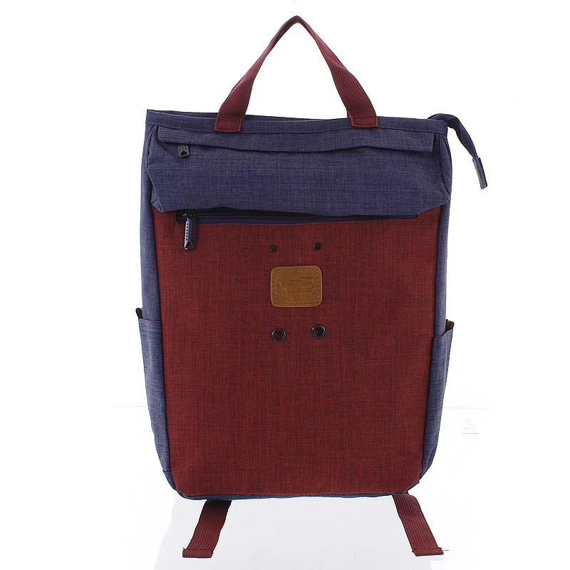 Štýlový modro-červený látkový ruksak - New Rebels Javan