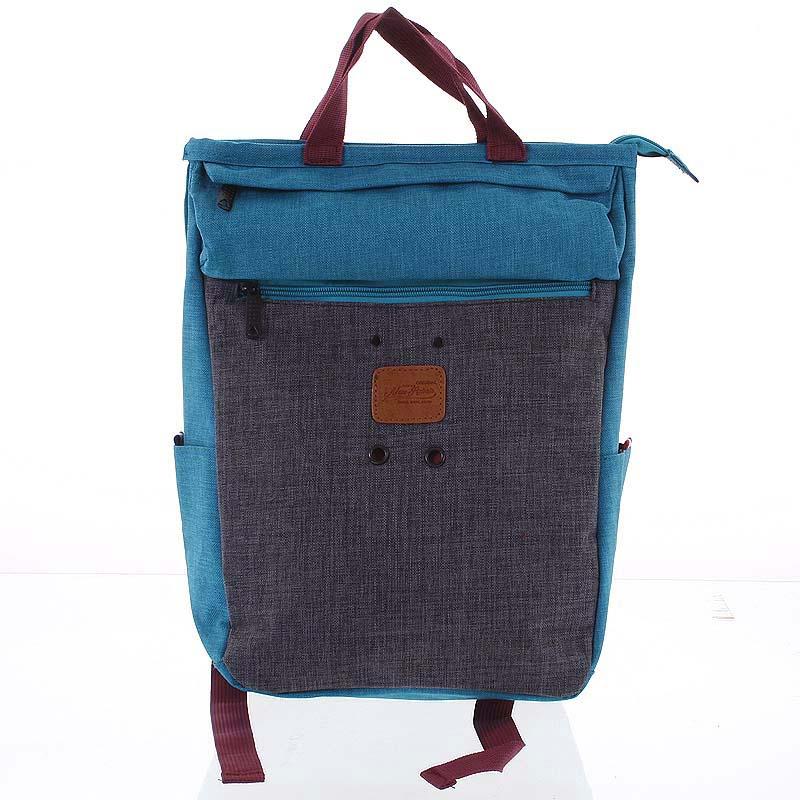Štýlový tyrkysovo-sivý látkový ruksak - New Rebels Javan