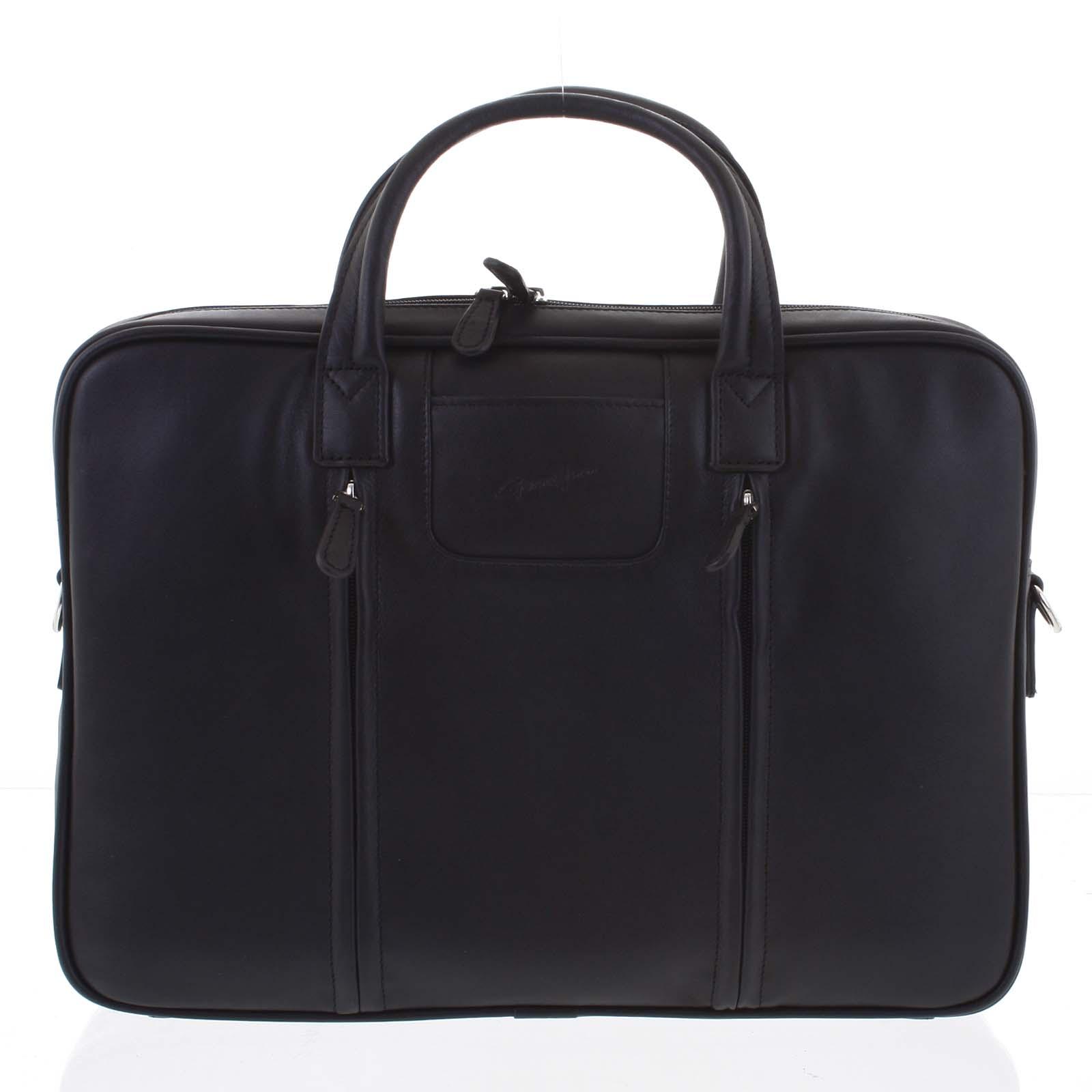 Luxusná kožená taška cez plece čierna - Gerard HENON Derell
