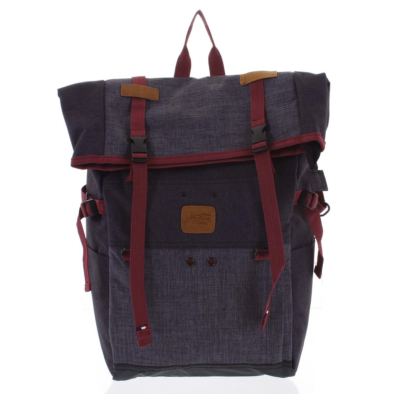 Kombinovaný cestovný ruksak čierno-sivý - New Rebels Messer