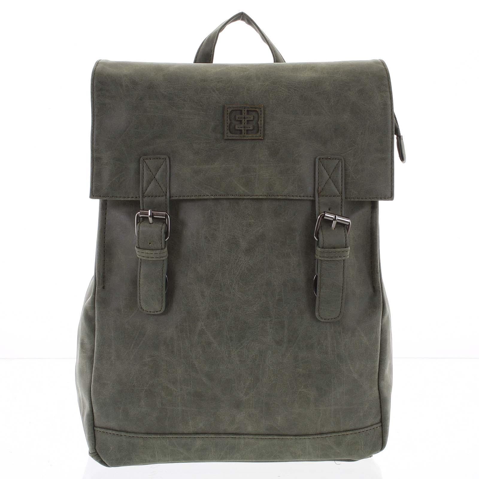 Módny štýlový batoh olivovozelený - Enrico Benetti Travers