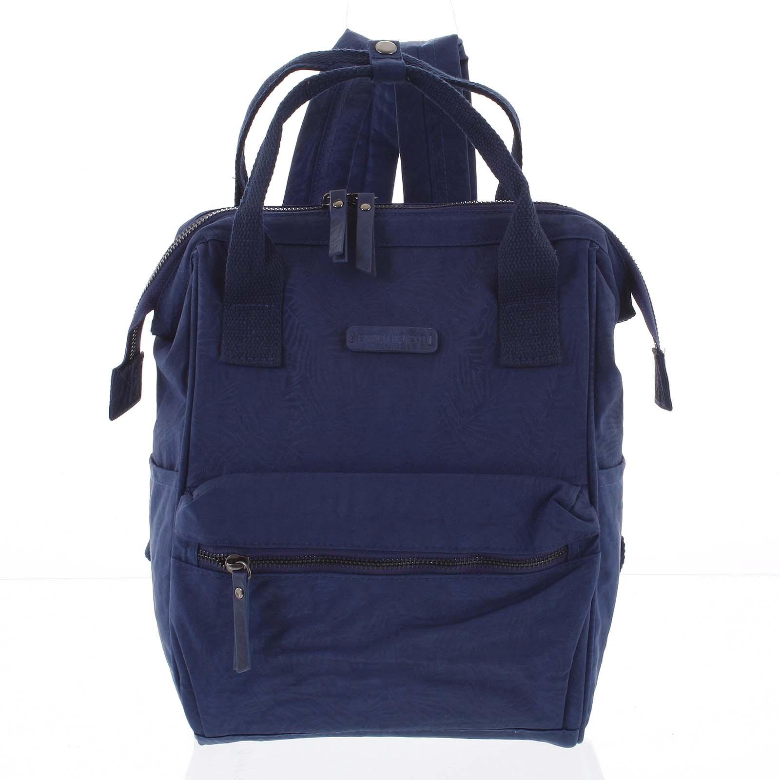 Štýlový dámsky batôžtek modrý - Enrico Benetti Gatam