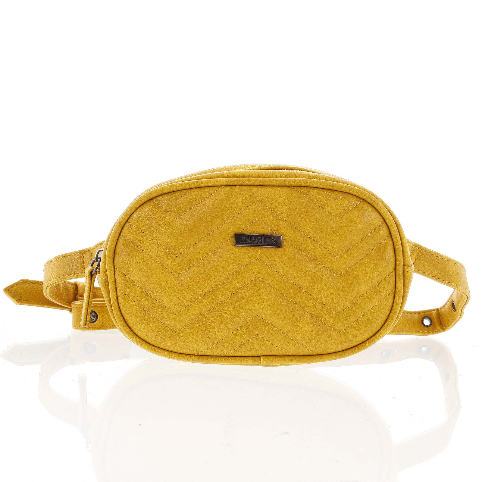 Malá dámska crossbody kabelka / ľadvinka žltá - Beagles Tima