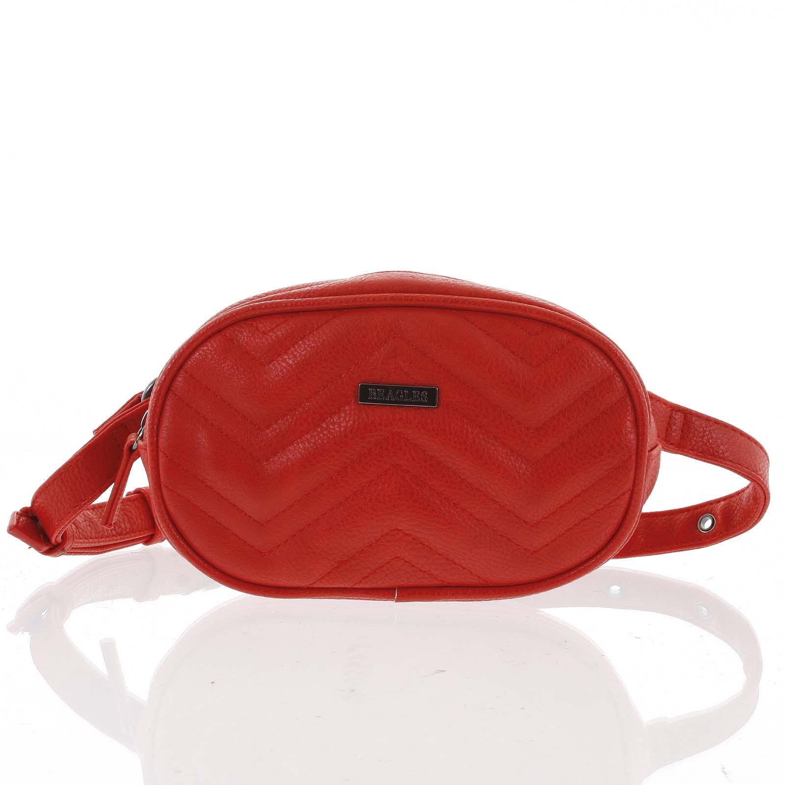 Malá dámska crossbody kabelka / ľadvinka červená - Beagles Tima