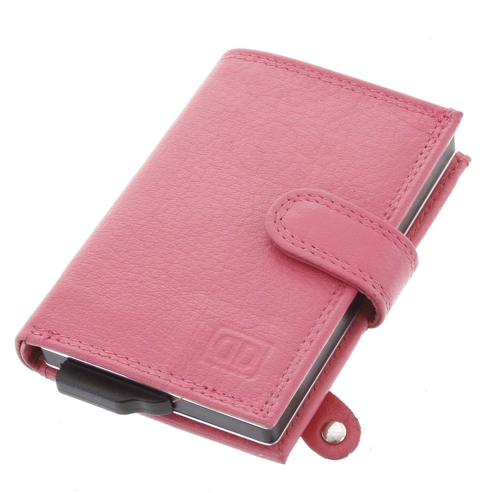 Kožené puzdro na karty ružové - Double-D Jokim