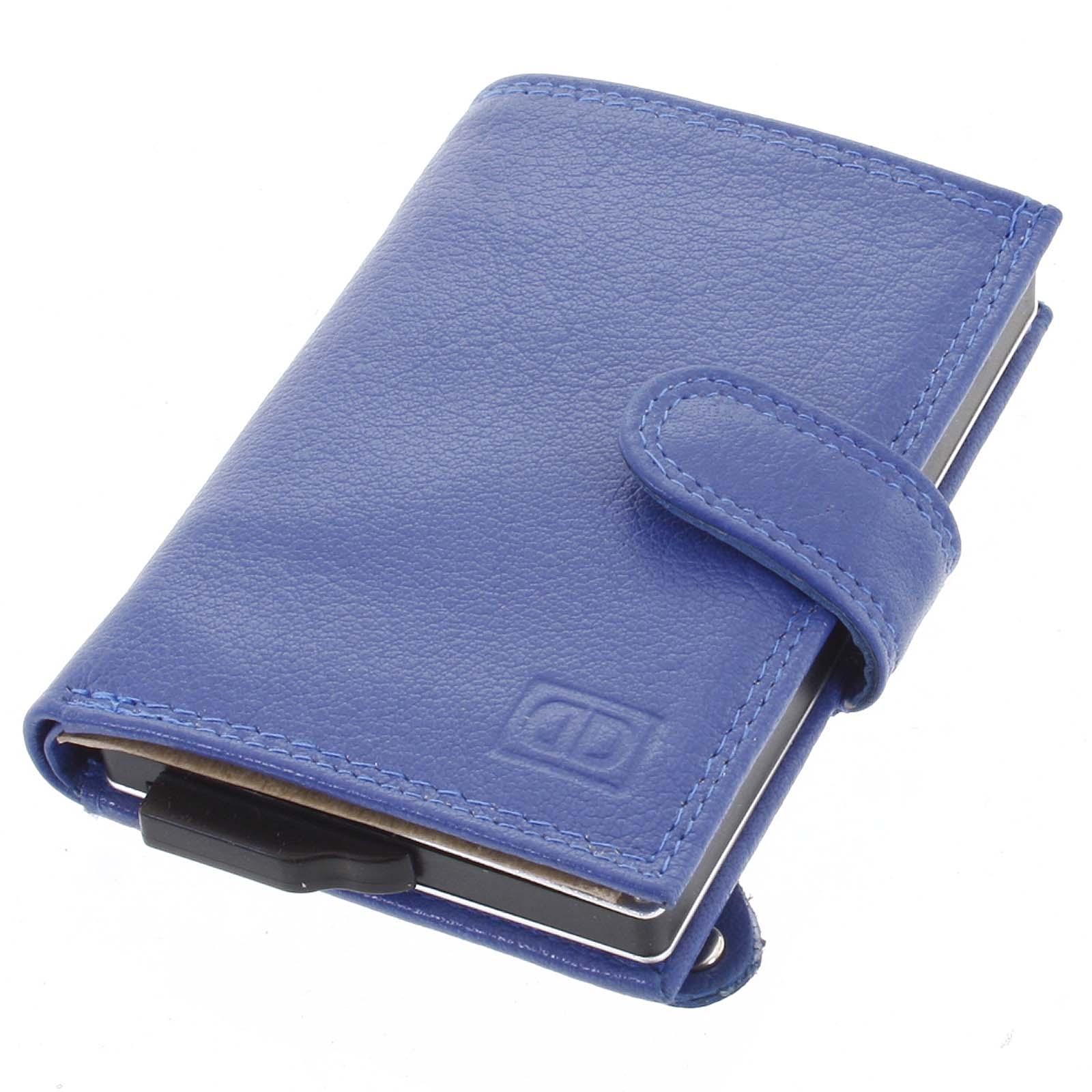 Kožené puzdro na karty modré - Double-D Jokim