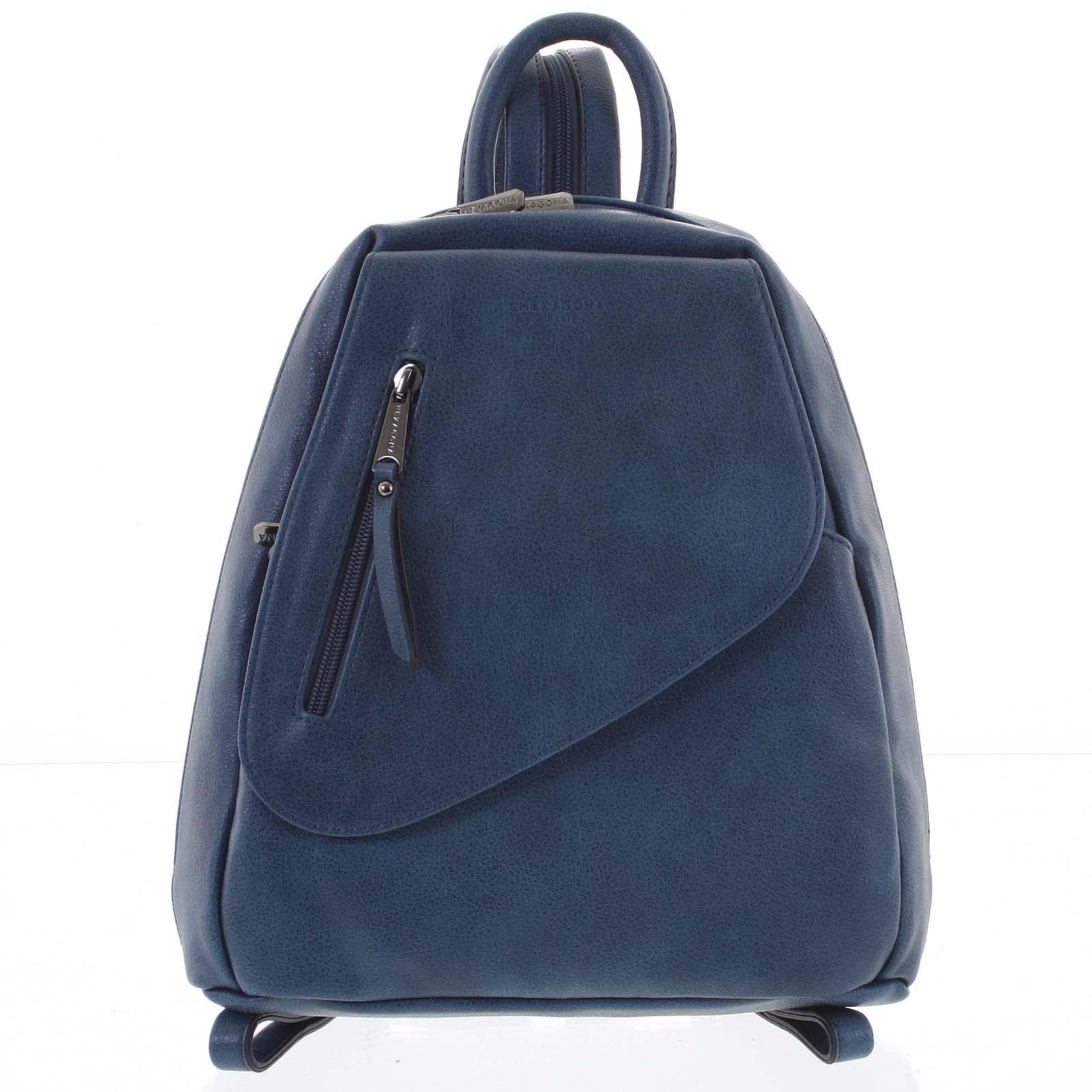 Módny dámsky modrý ruksak - Hexagona Pasha