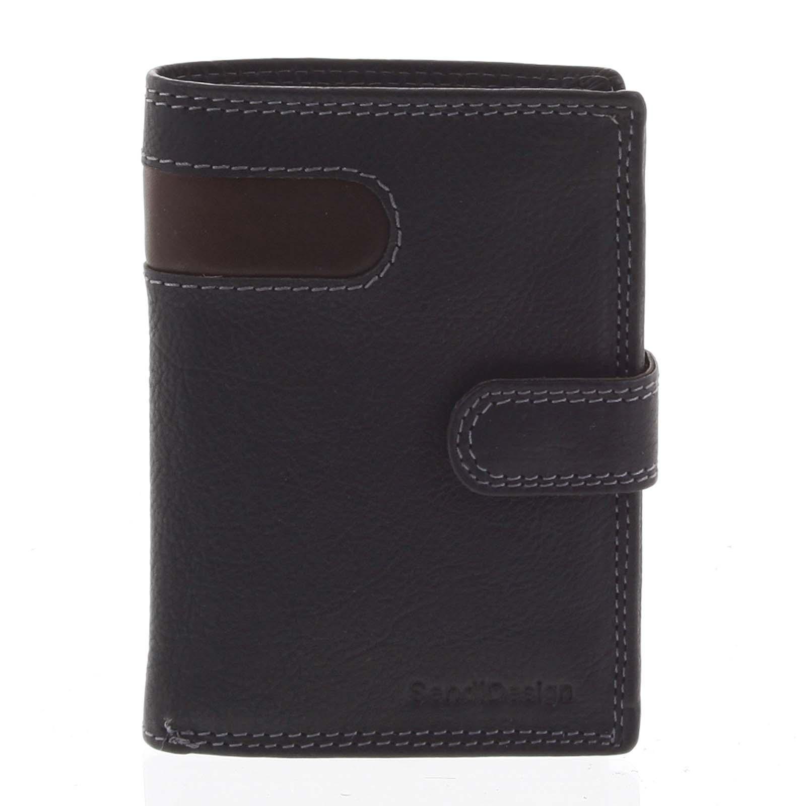 Pánska kožená peňaženka čierna - SendiDesign Elam