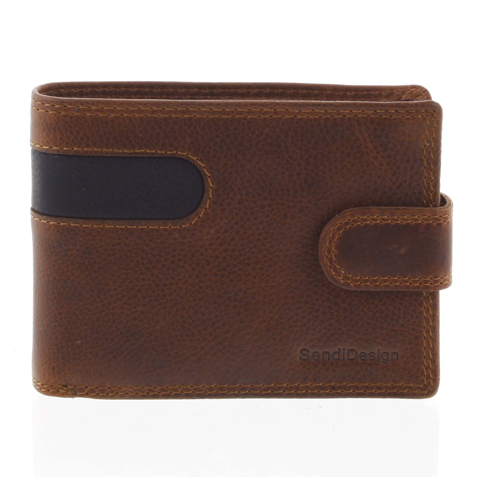 Obľúbená pánska kožená peňaženka hnedá - SendiDesign Igeal