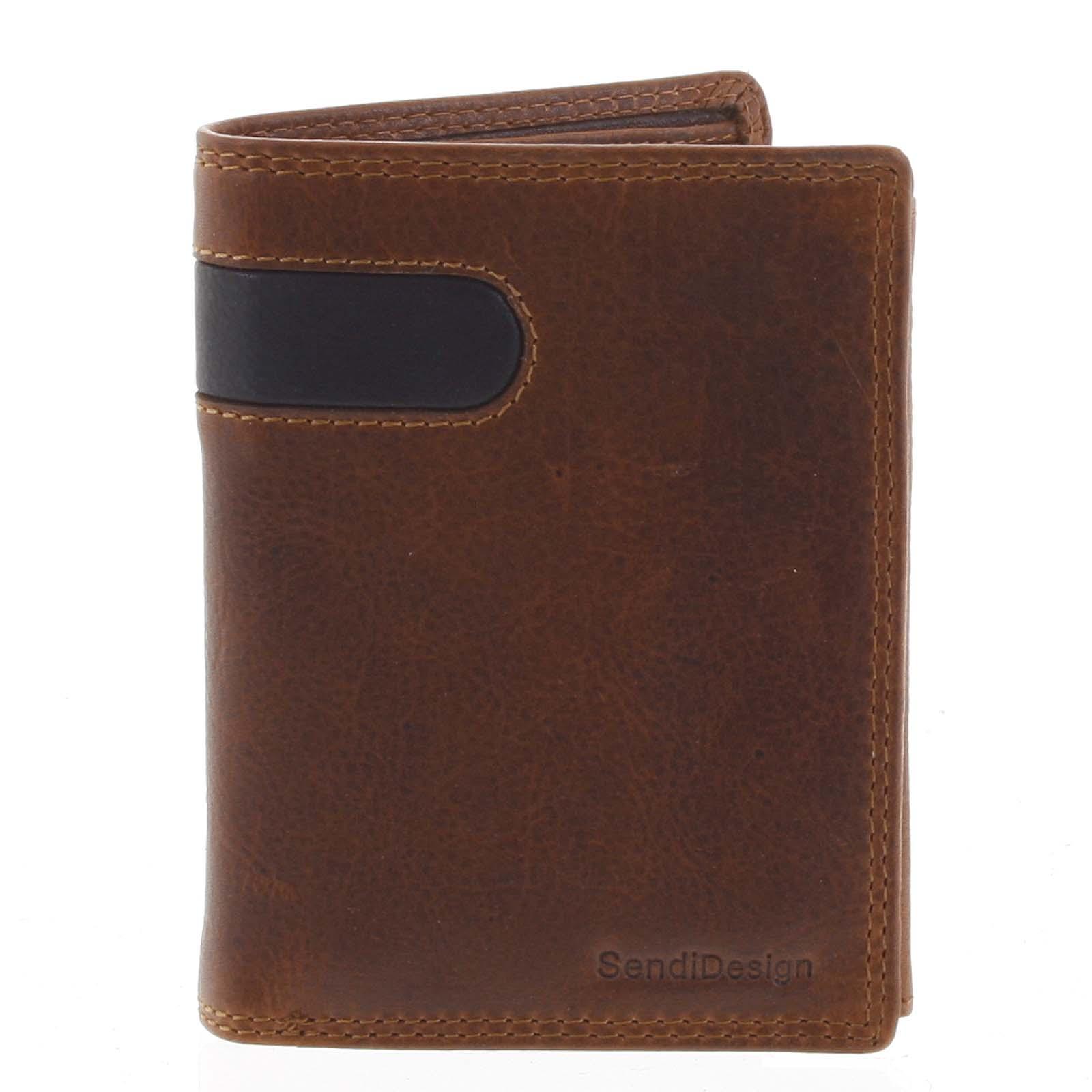 Pánska kožená peňaženka hnedá - SendiDesign Parah