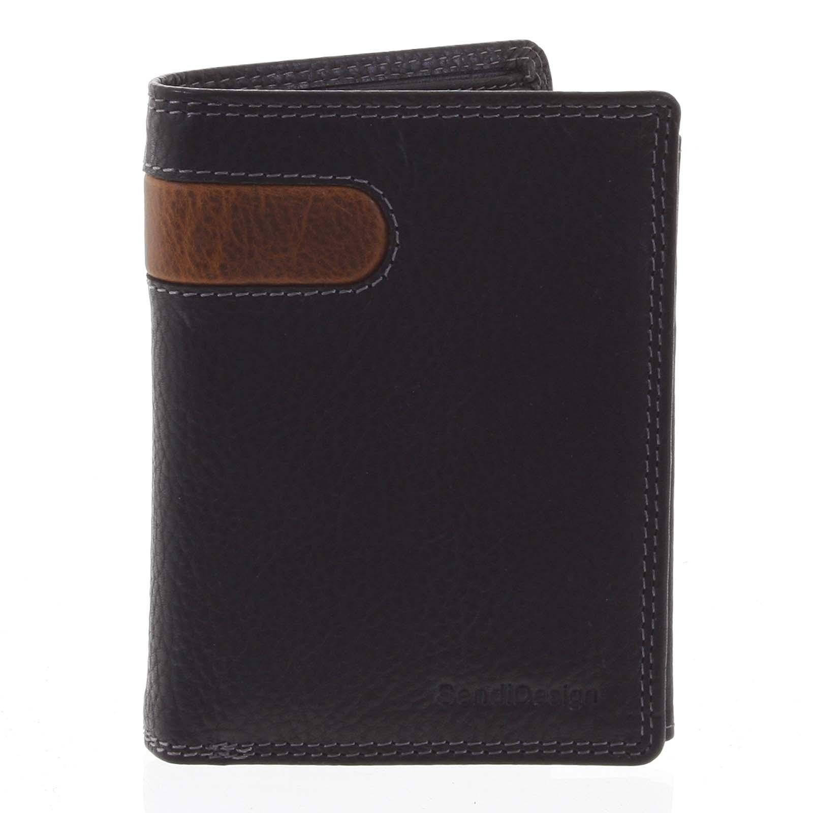 Pánska kožená peňaženka čierna - SendiDesign Parah
