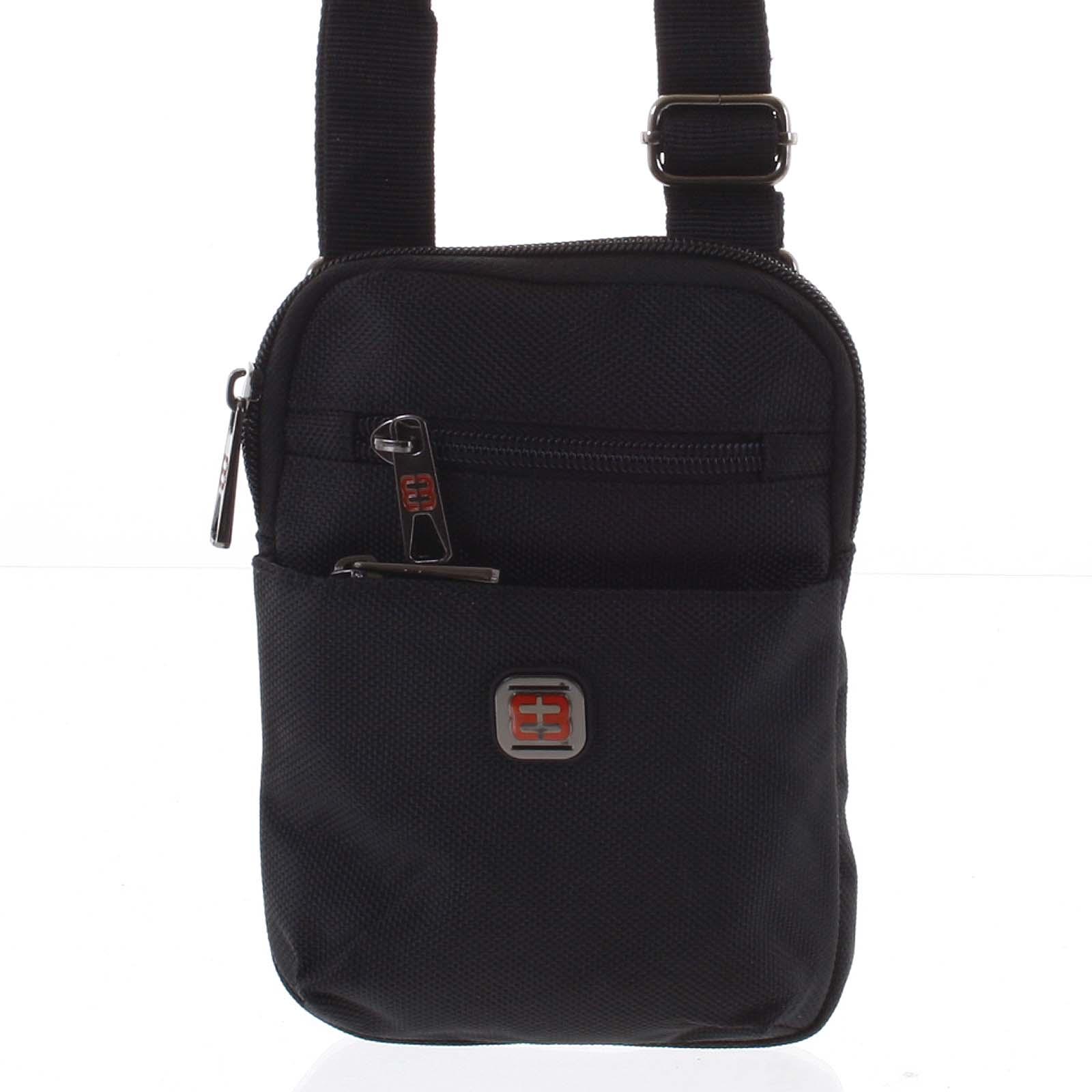 Malá crossbody taška na doklady čierna - Enrico Benetti Ramin