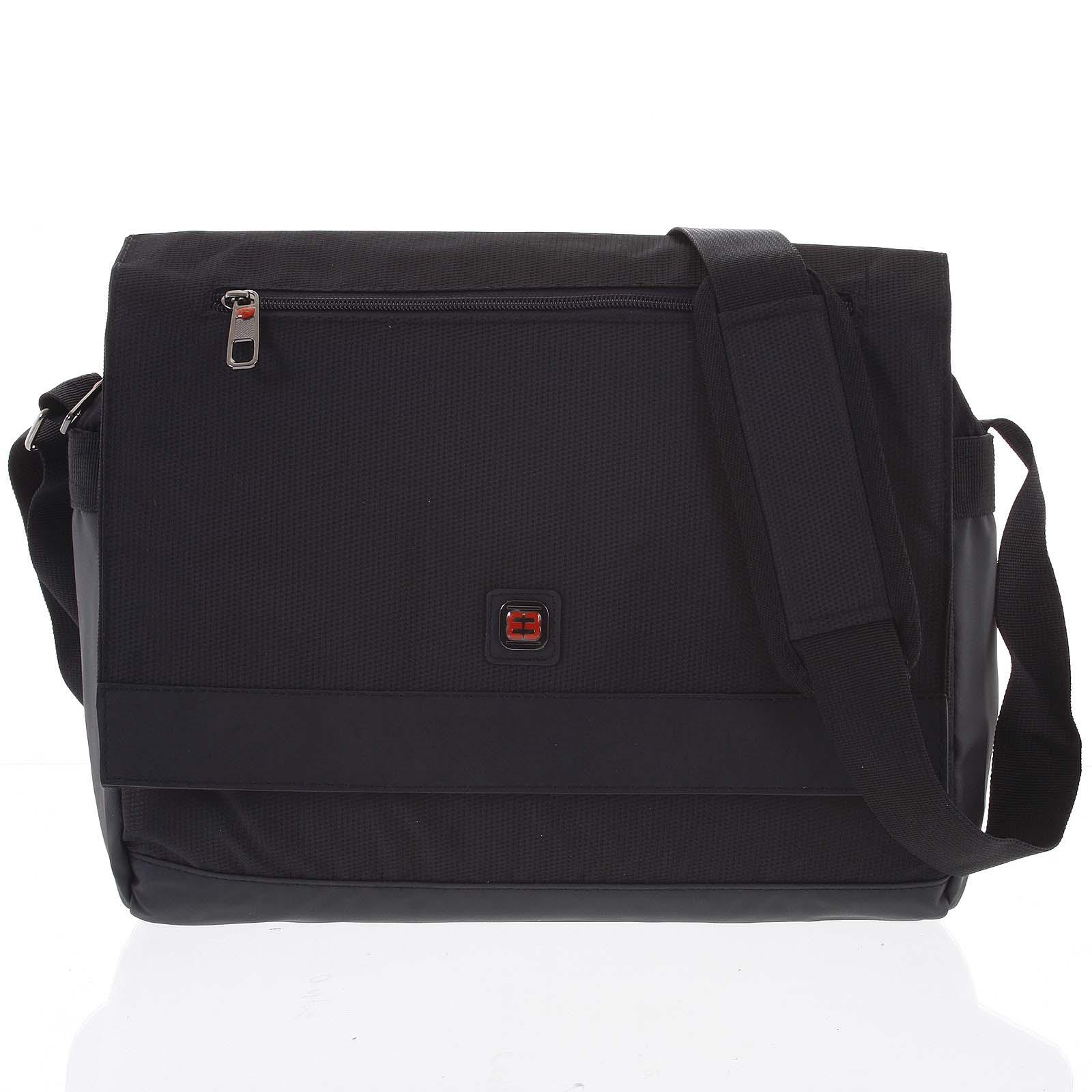 Čierna ľahká taška na notebook - Enrico Benetti Reza