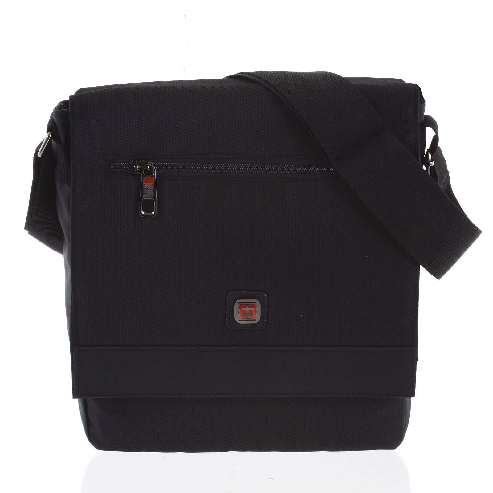 Pánska taška cez plece čierna - Enrico Benetti Saleh