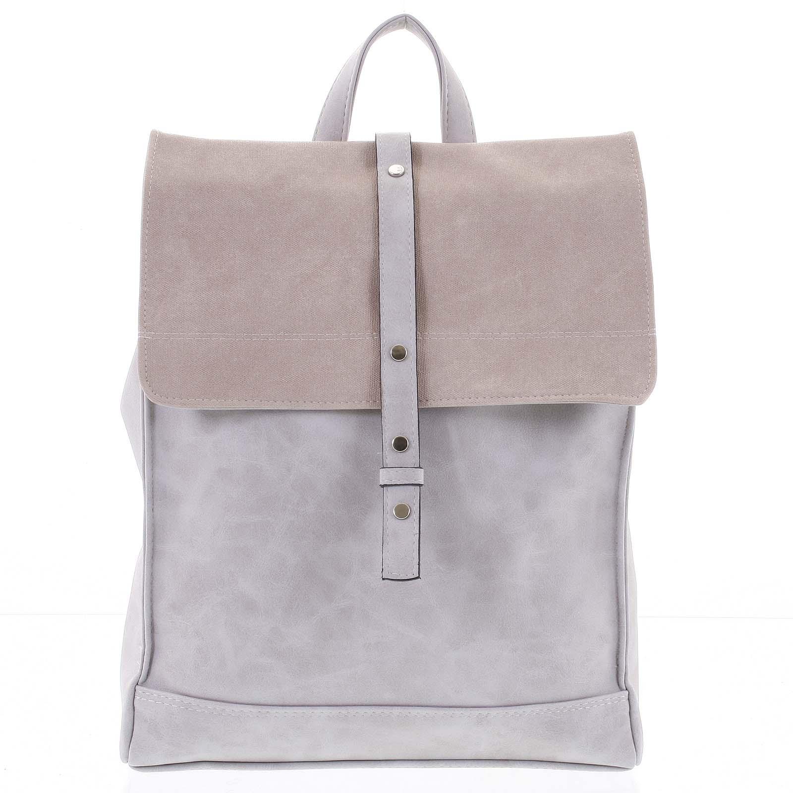 Unikátny módny dámsky batoh kabelka sivý - Ellis Júlian